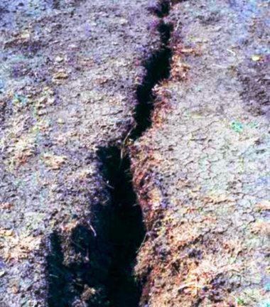 Large fissure in black cotton soil of Sudan