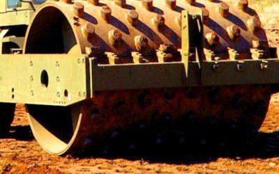 Sheepsfoot roller for moist clay soil